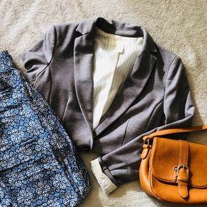 Heather Grey Fitted Blazer [H&M]